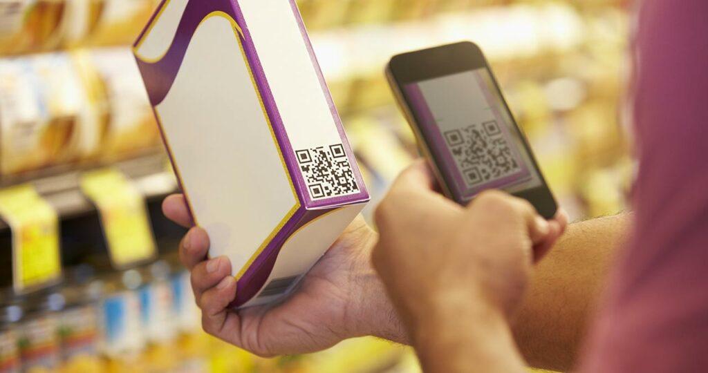 QR code packagings produit